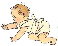 Baby Crawling Away Clipart.