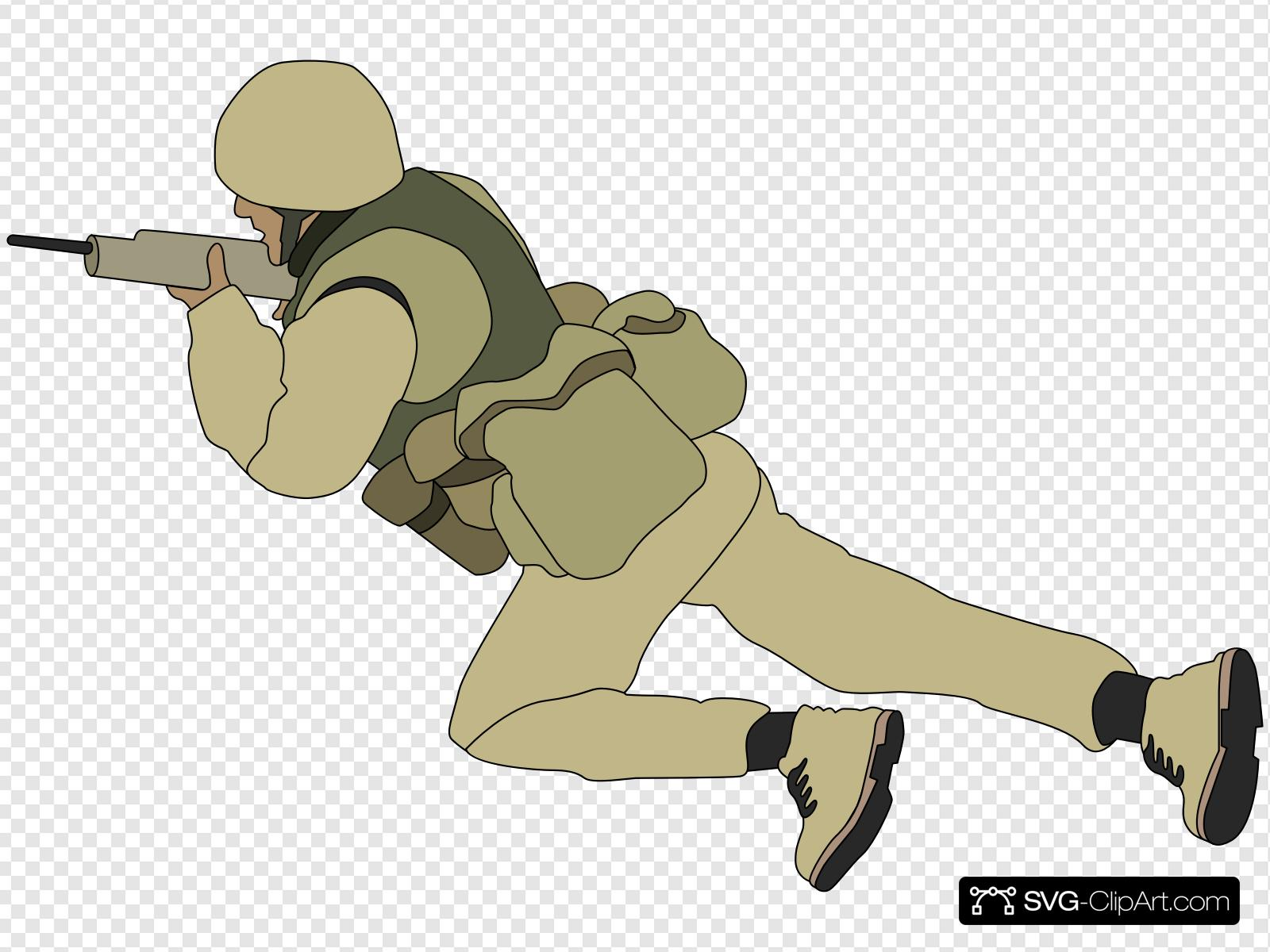 Crawling Soldier Clip art, Icon and SVG.