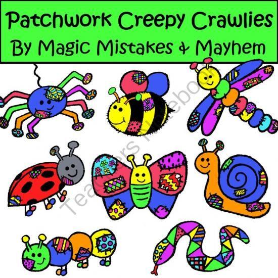 Creepy Crawly Bugs Clipart.