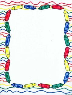 Crayons Border Clipart.