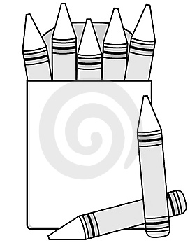 Crayon Outline Clipart.