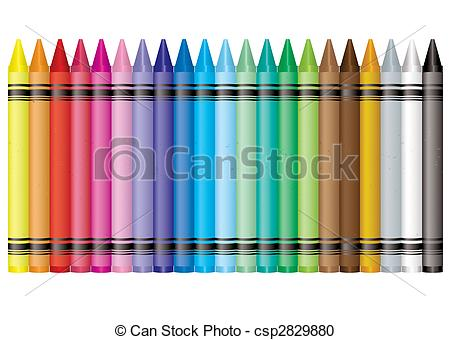Vector Clipart of rainbow crayon.