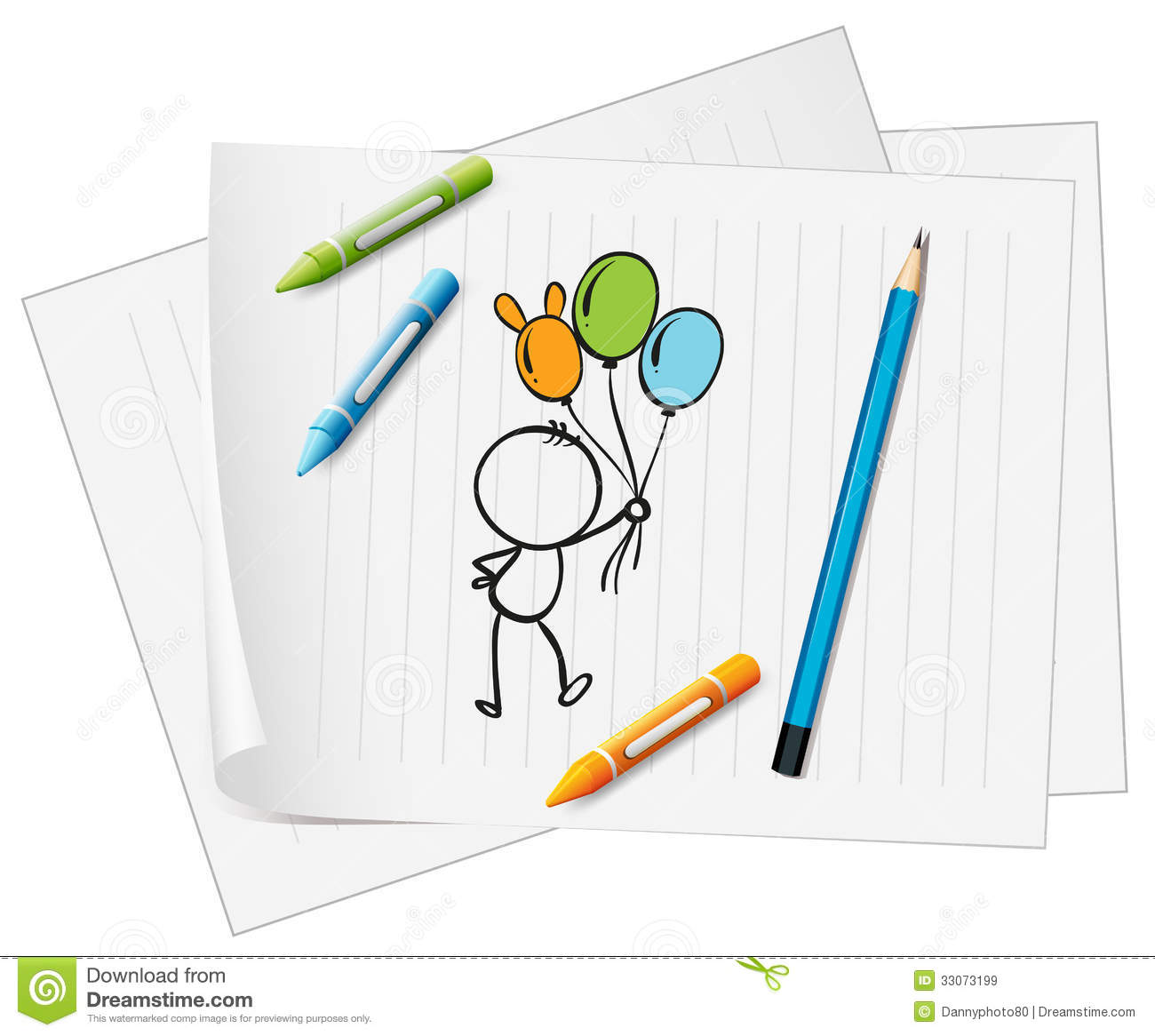 1069 Crayons free clipart.