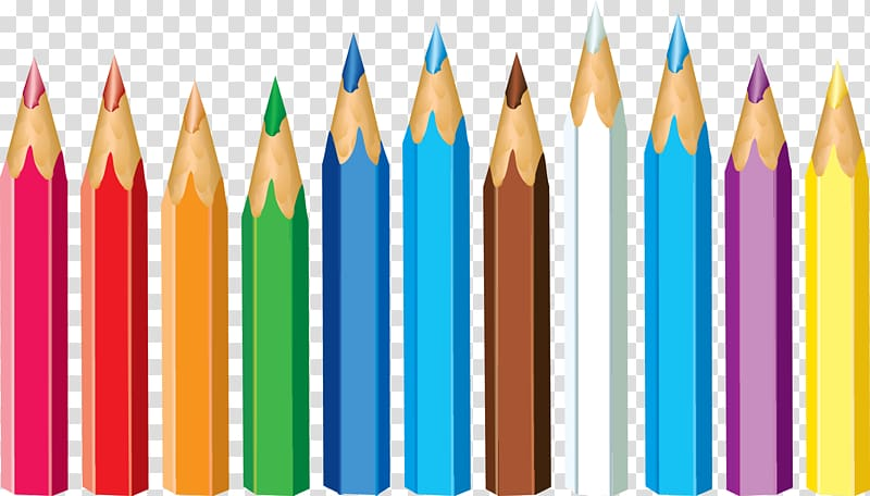 Colored pencil Crayon , pencil transparent background PNG.