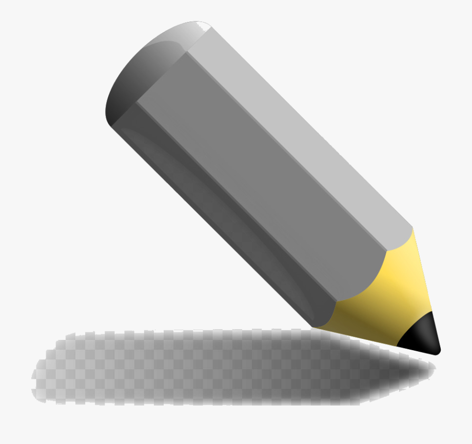Gray Crayon Pencil Colored Angle Technology Transparent.