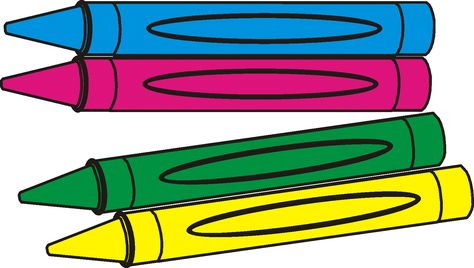 Crayons Clipart Black And White.