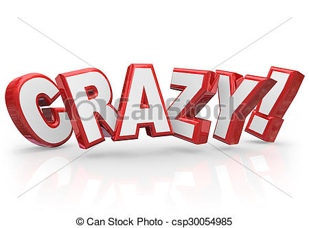 Crazy Word Clipart.