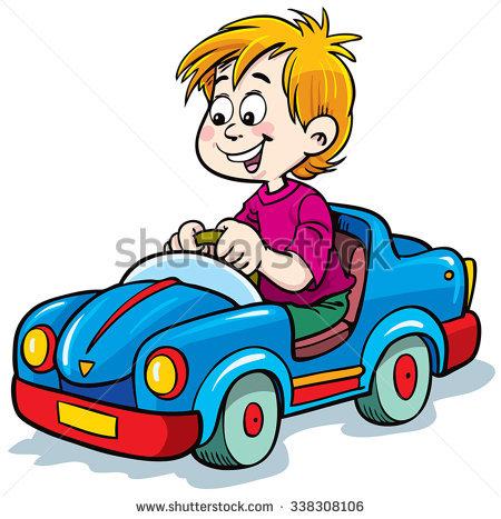 Crazy Car Driver Vector Illustration Stock Vector 34018300.
