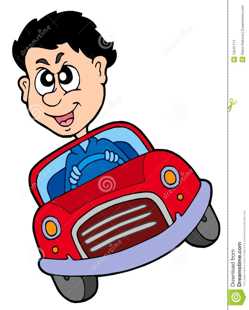 Crazy Car Driver Clipart.