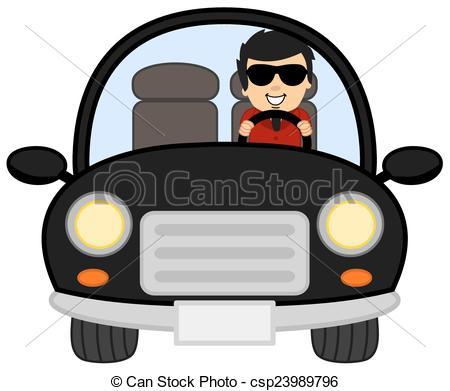 Car And Driver Clipart.