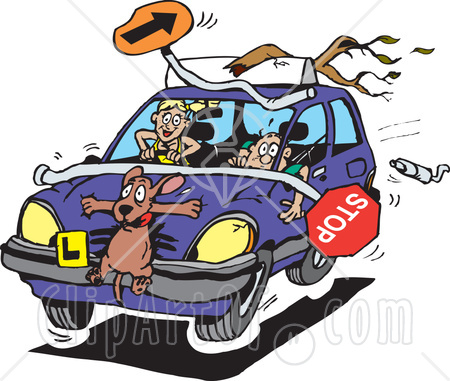Showing post & media for Crazy driving cartoon.