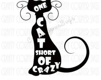 Crazy cat lady svg.