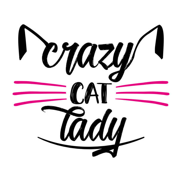 Best Crazy Cat Lady Illustrations, Royalty.