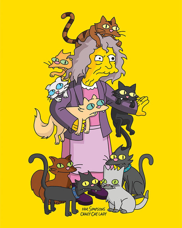 Simpsons Crazy Cat Lady 01 Poster.