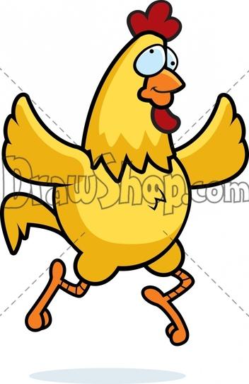 Vector of 'Fat chicken clip art. Vector cartoon illustration with.