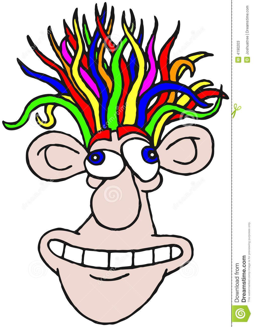 Crazy Hair Clipart Free.