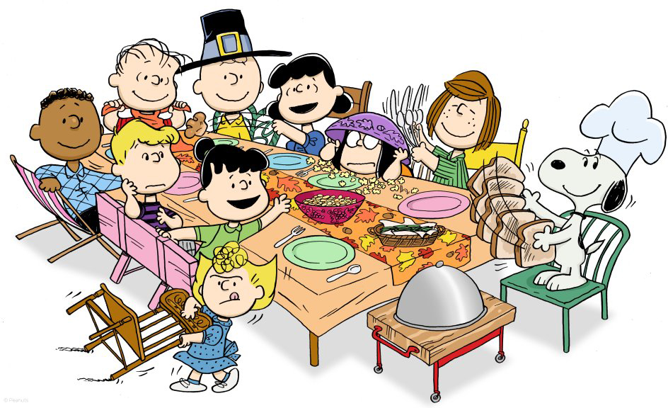 Thanksgiving Dinner With Family Clipart.