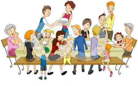 38623 Family free clipart.
