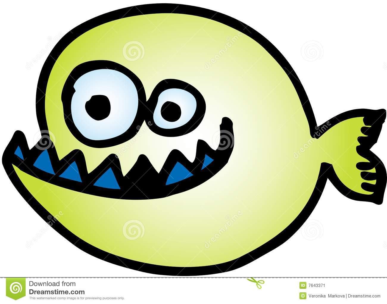 Crazy Fish stock vector. Illustration of white, finfish.