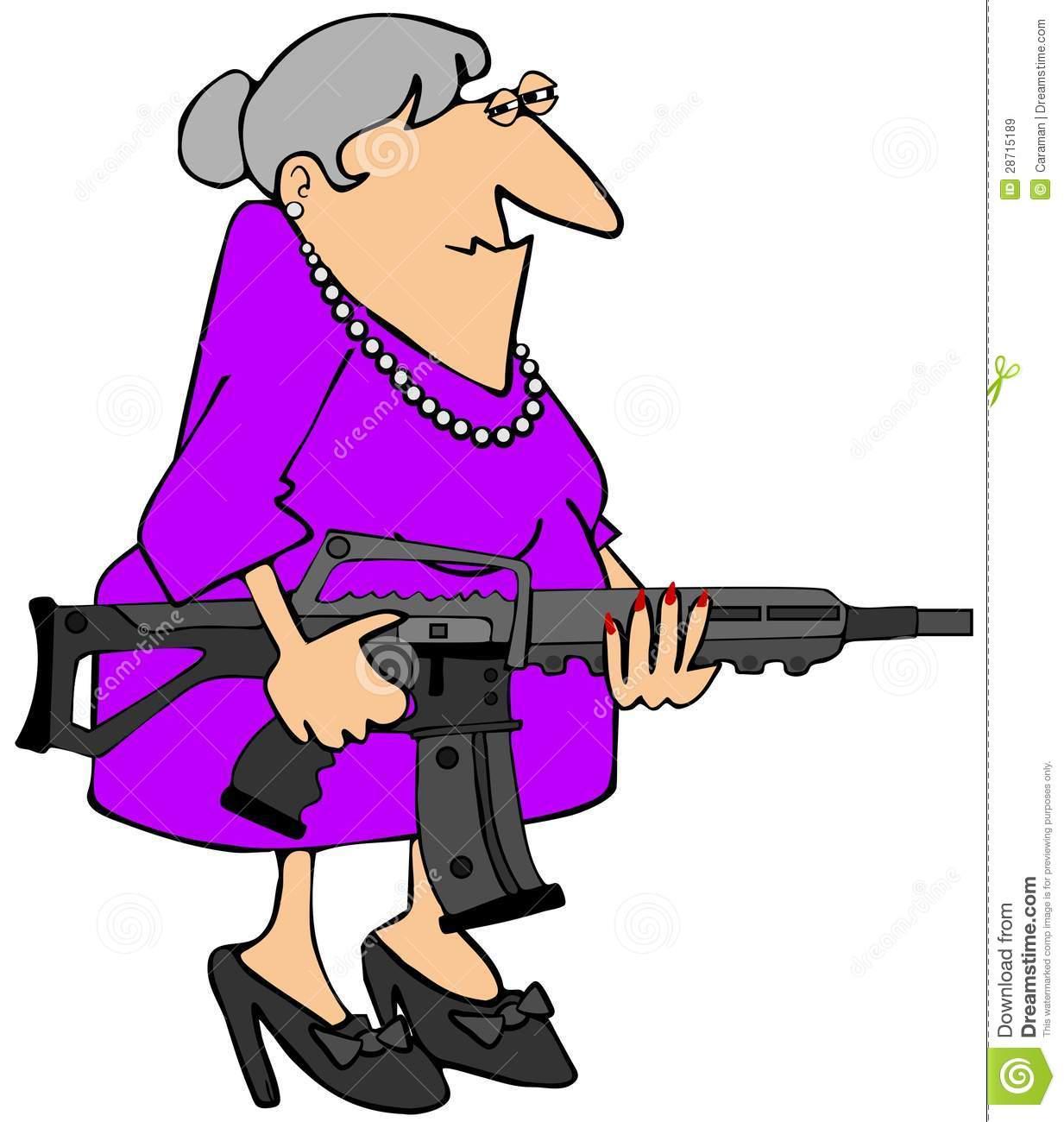 Cartoon Grandma Clipart.