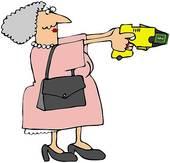 Crazy Grandma Clipart.