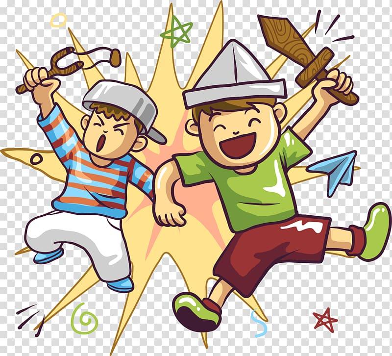 Child Cartoon Comics, Crazy play little partner transparent.