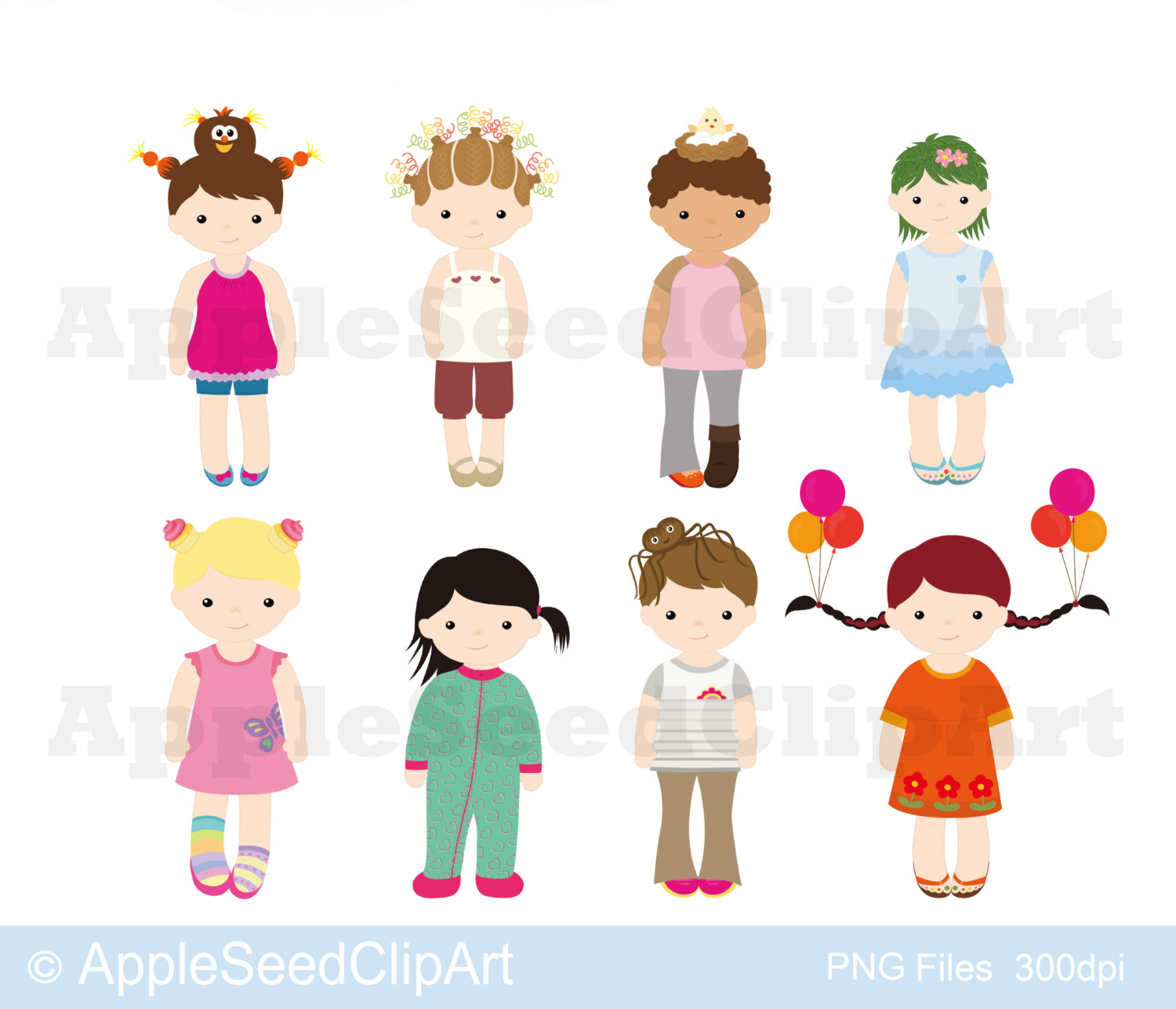 Wacky Hair Day Clipart.