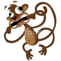 Crazy Monkey stock vectors.