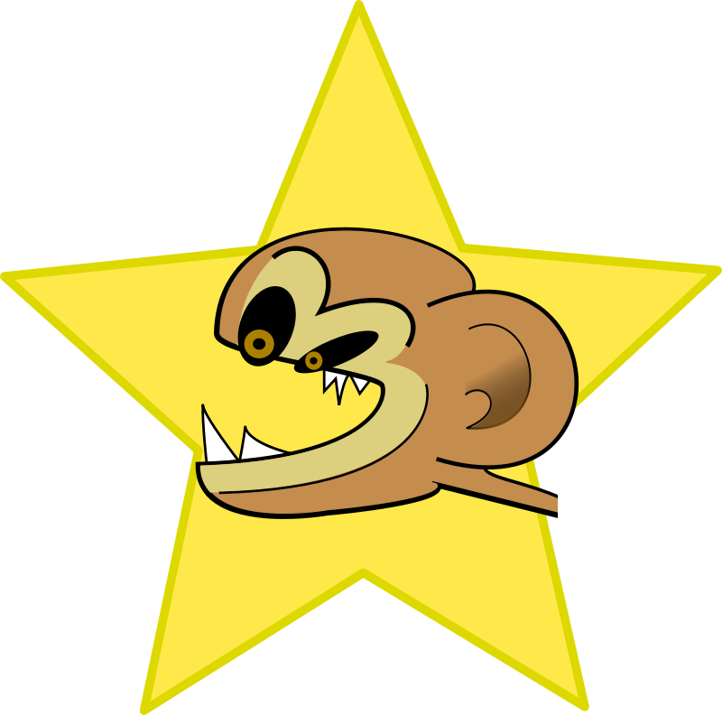 Free Clipart: Crazy monkey.