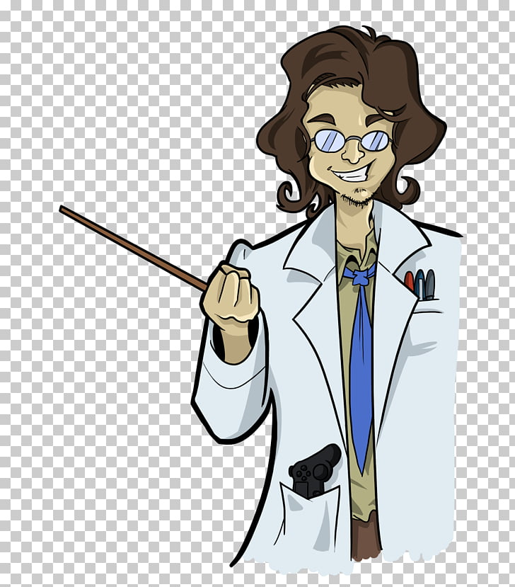 Cartoon Human behavior , crazy professor PNG clipart.