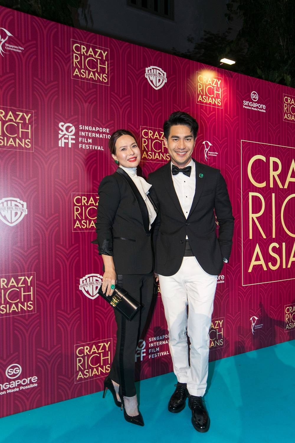 Glittery gowns, a gorgeous kebaya and a splendid sari at the Crazy.