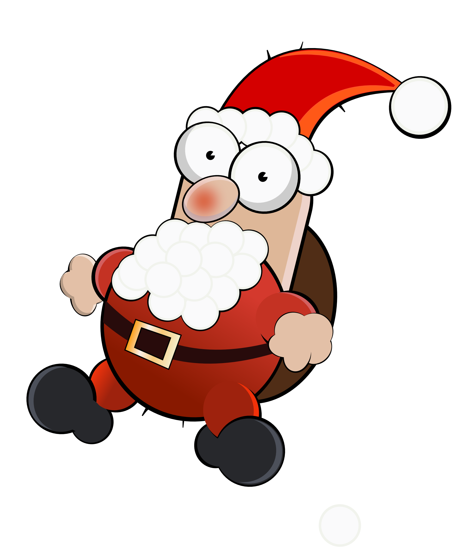 clipartist.net   Clip Art   Santa Crazy man Scalable.