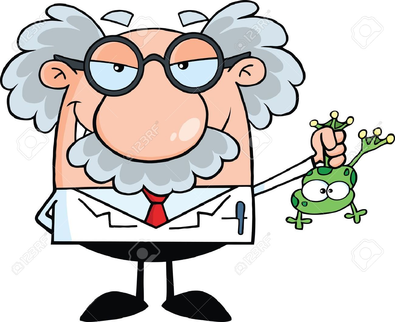 Mad Scientist Cartoon Clipart.