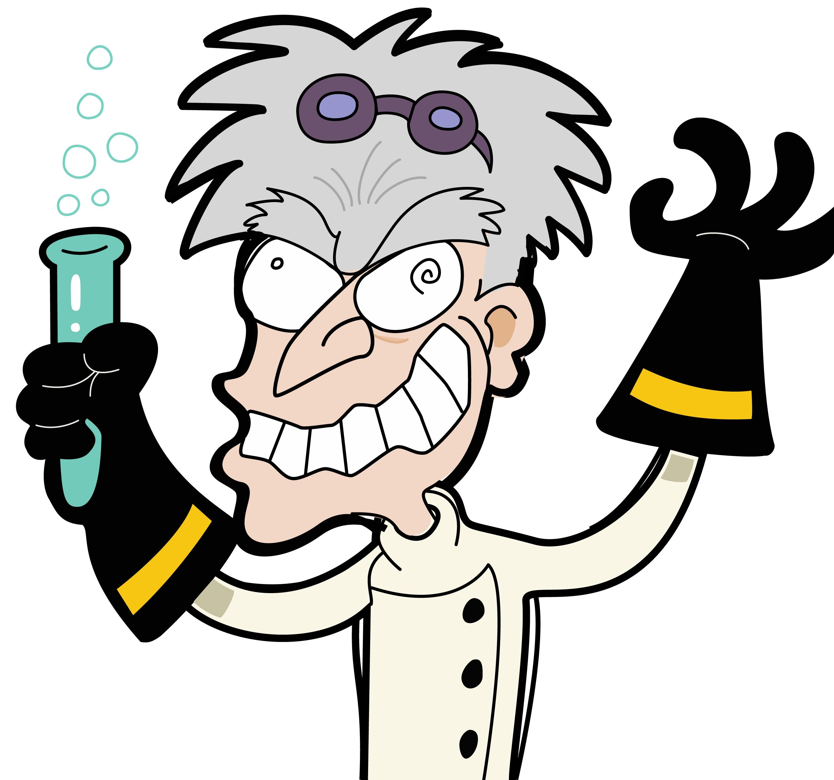 581 Mad Scientist free clipart.