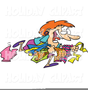Crazy Shopper Clipart.