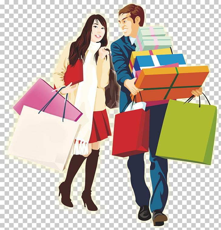 Shopping Designer Template, Shopping for men and women PNG.
