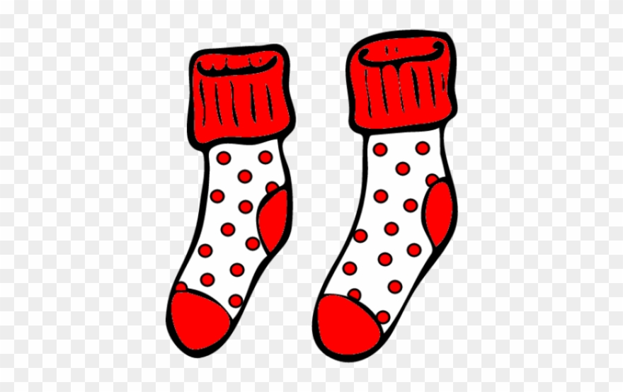 Socks Clipart Spotty.