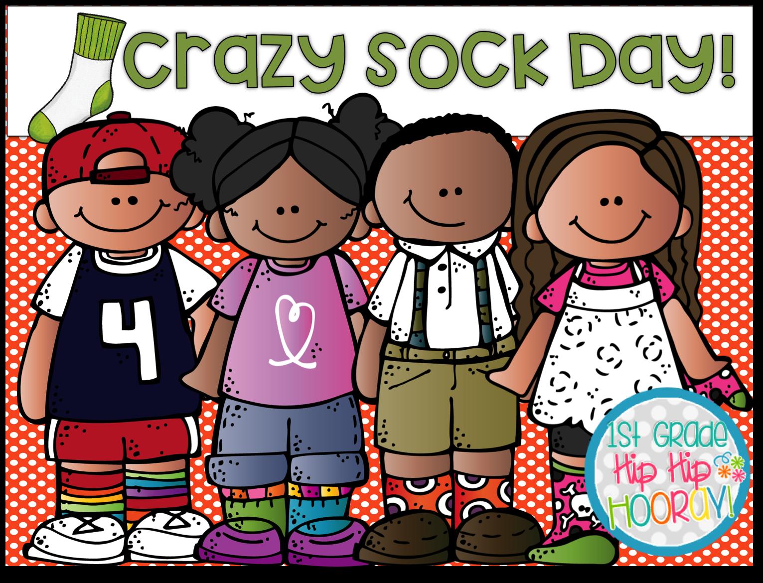1st Grade Hip Hip Hooray!: Crazy Sock Day!.
