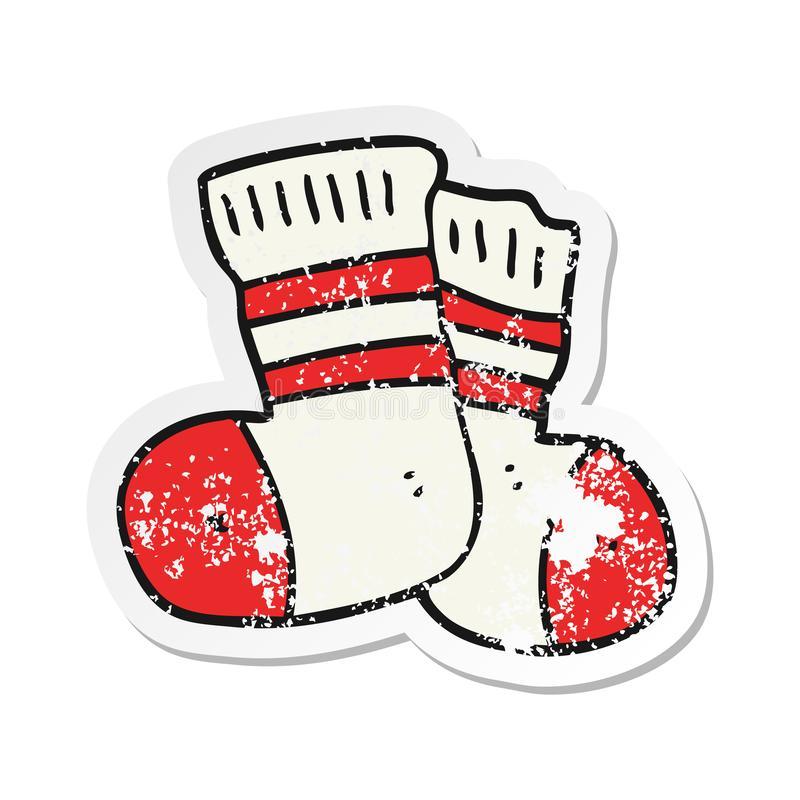 Crazy Socks Stock Illustrations.