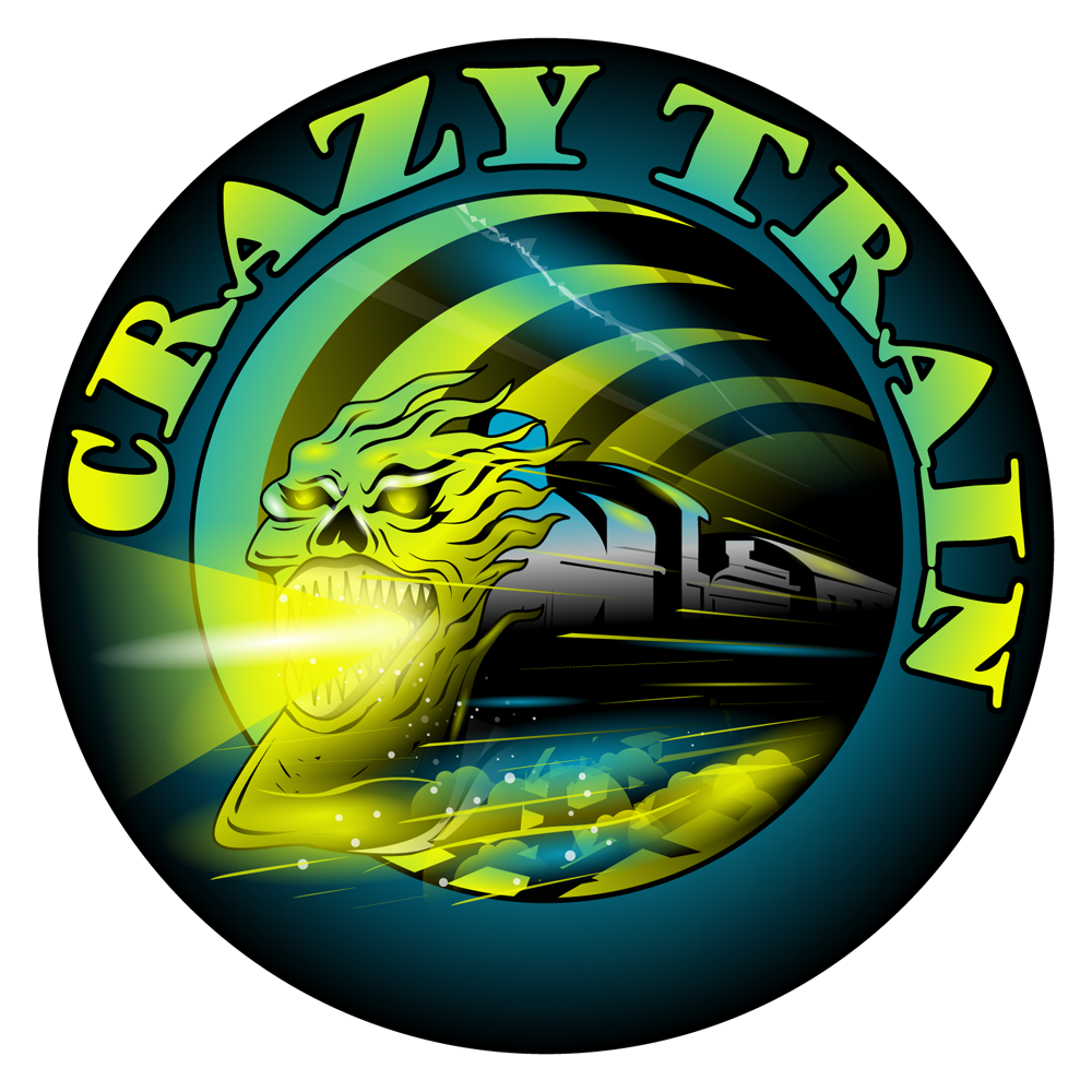 Crazy Train Illustration. Cool striped and a truly cray.