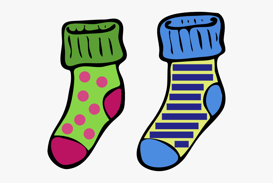 Crazy Socks Cartoon Clipart Free.