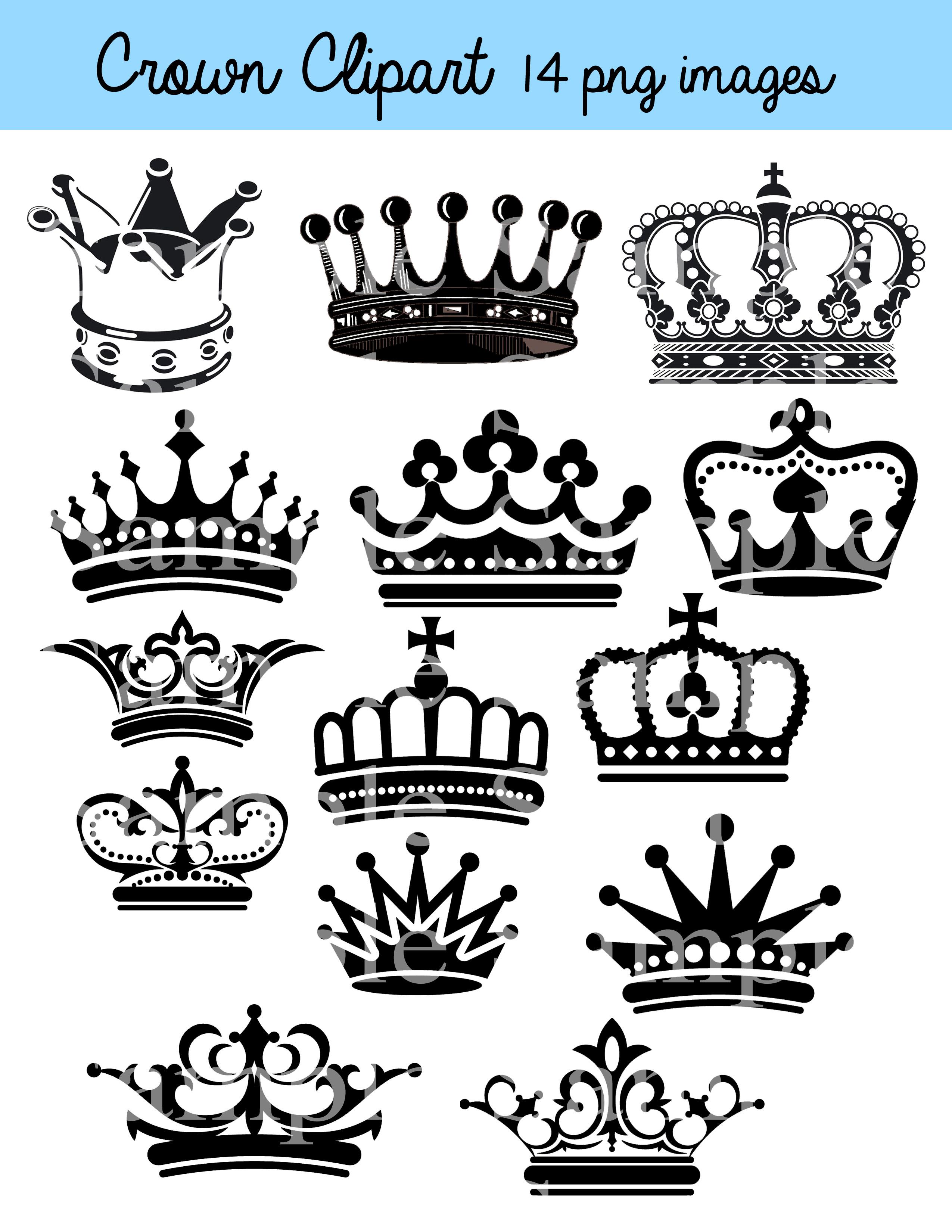 Crown Clipart Clip Art, Crown Silhouette Clipart Clip Art Black Crowns,  Color Crowns, Royal Clipart Princess Crowns.