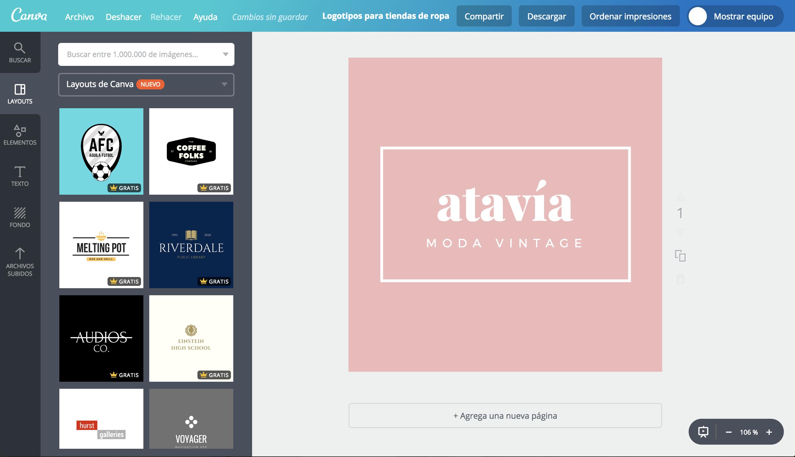 Crea un logo para tu tienda de ropa online gratis.