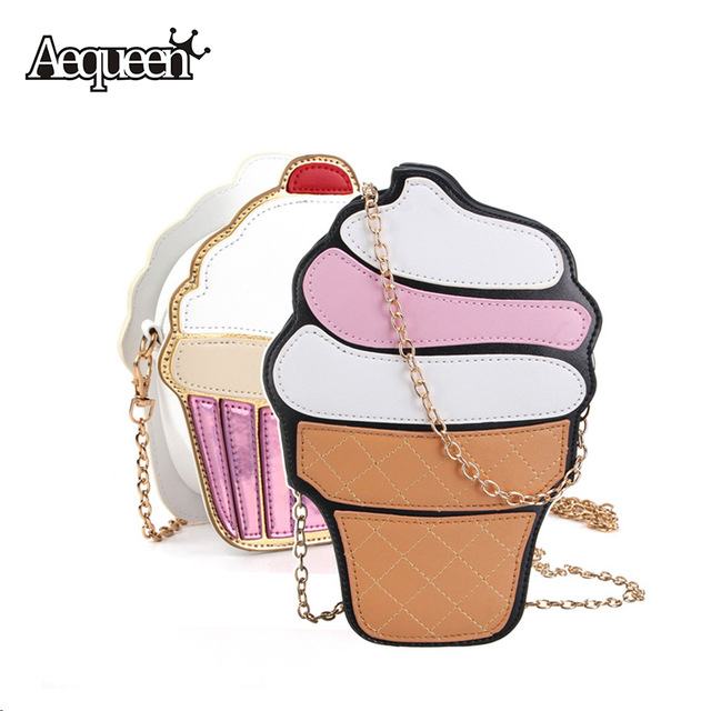 Aliexpress.com : Buy 3D Women Ice Cream Bags Leather Messenger.