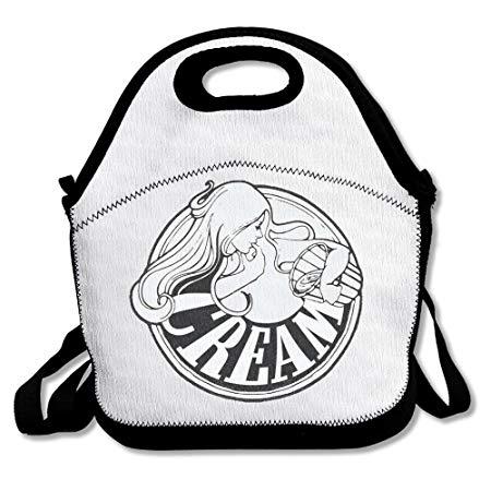 Funyoobag Cream Band Logo Lunch Bags Carry Bag: Amazon.co.uk.