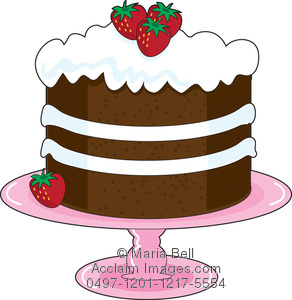 Strawberry Shortcake Clipart Image.