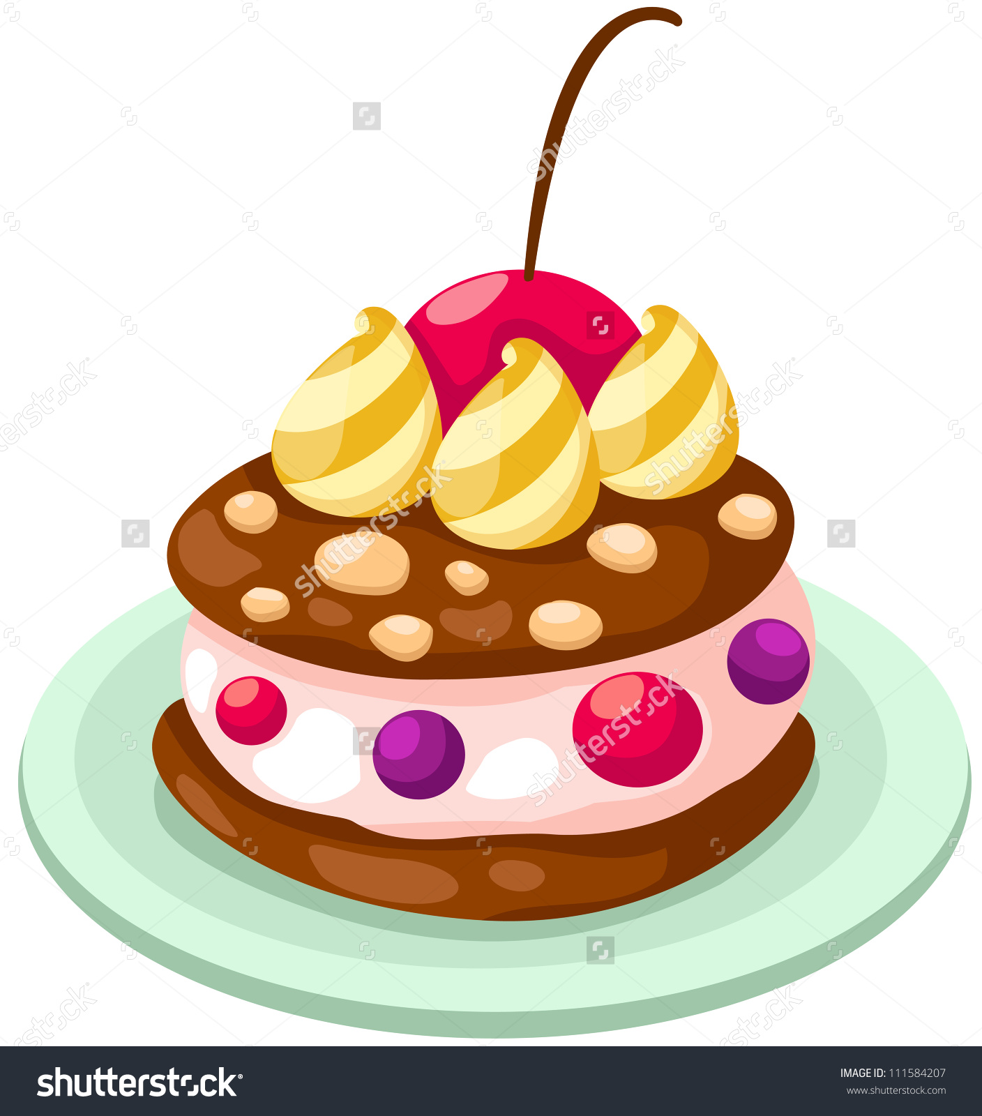 Ice Cream and Cake Clip Art.