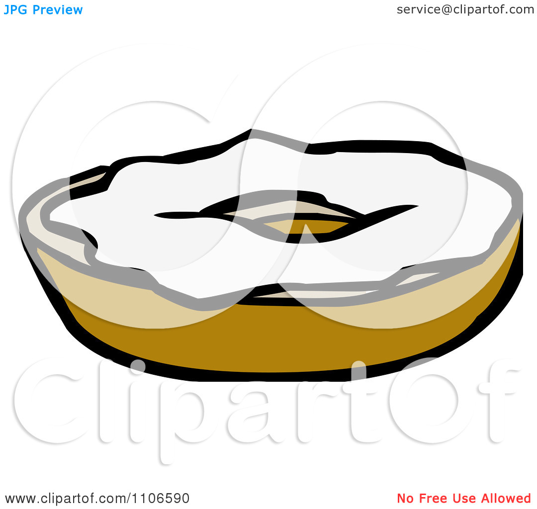 Clipart Bagel With Cream Cheese.