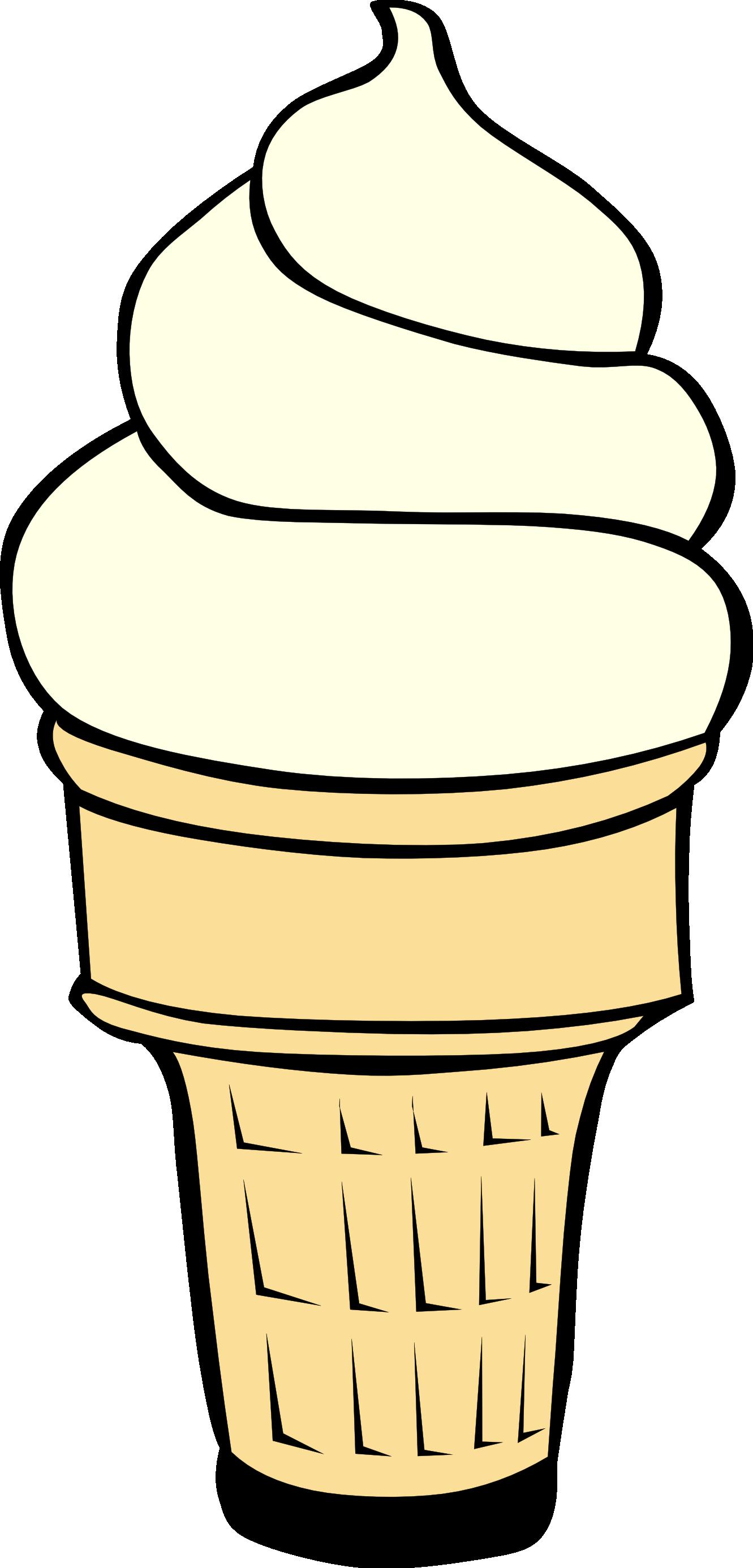 Ice Cream Clipart Black And White.