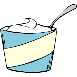 Cream clip art.
